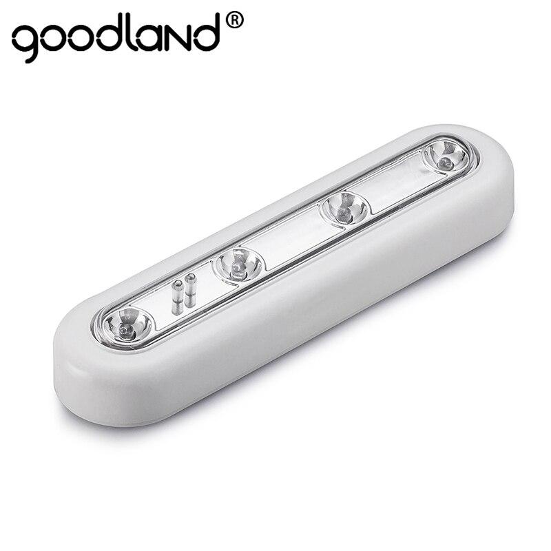 LED Night Light Mini Wireless Wall Lamp LED Touch Sensor Wall Light For Cabinet Wardrobe Closet Kitchen Bedroom Bathroom Table