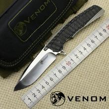 Heiße Verkäufe VENOM 2 KEVIN JOHN Messer M390 Klinge Titanlegierung + Kohlefaser Griff Outdoor camping jagd Jagd tasche messer