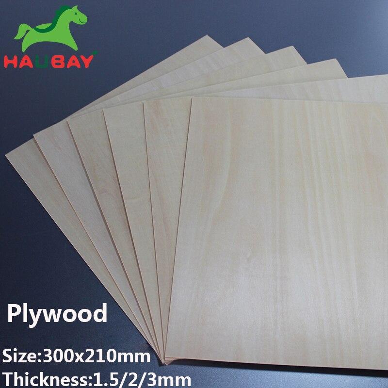 HAUBAY Tilo de madera 300x210x1,5/2/3mm 5 piezas de tilo de madera contrachapada de hojas manualidades de madera para Festival fabuloso DE FEBRERO DE VENTA