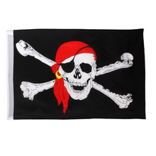 Cross Crossbones Red Turban Pirate Flags Jolly Roger Holloween Decoration Party Happy Birthday Gift Drop shipping