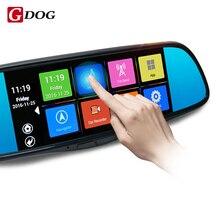"""2017 novo espelho retrovisor 7 """"Touch Screen Android 4.4 Câmera Do Carro DVR Full HD Câmera de Visão Traseira Espelho GPS WiFi base universal"""