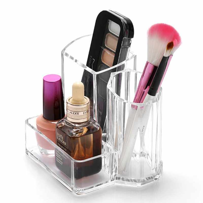 Eyebrow Pencil Eyeshadow Makeup Brush Storage Box Acrylic Transparent Cosmetics Organizer Makeup Tool Kit