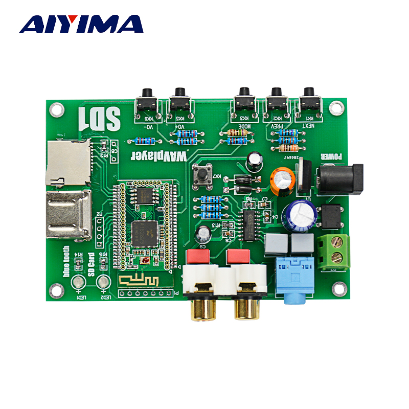 AIYIMA Bluetooth Digital MP3 Player Board WAV APE FLAC Lossless Decoding I2S Or SPDIF Output