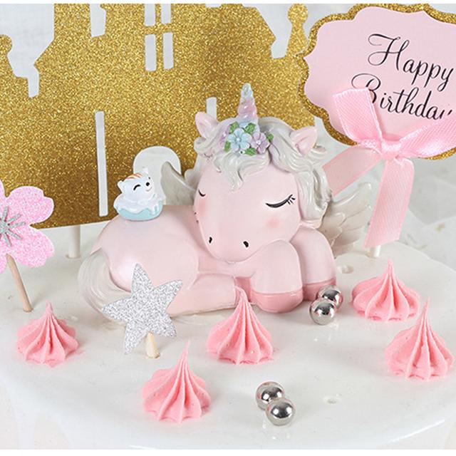 Sweet Sleepy Unicorn Cake Topper