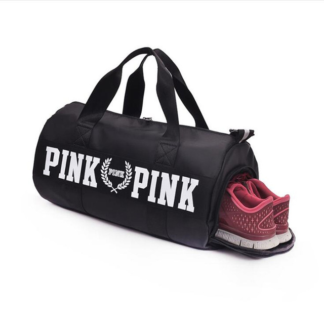 2018 New product nylong  female yoga pack gym bag men's shoes, waterproof one-shoulder training package with shoes pocket