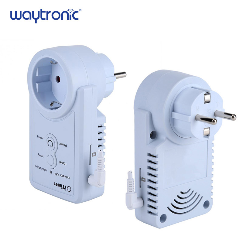 GSM Smart Power Outlet Plug Socket Cellphone English Russian SMS Remote Control Timing Switch Temperature Controller with Sensor