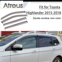Atreus 1set ABS For 2015 2018 Toyota Highlander 50 XU50 Accessories Car Vent Sun Deflectors Guard Smoke Window Rain Visor