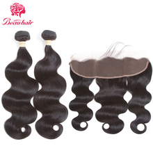 BeauHair Malaysia 3 Bundles With Lace Frontal Body Wave Human Hair Free Part Ear To Ear Lace Frontal Non Remy Human Hair Weaving