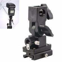 Универсальный держатель зонта типа B для вспышки Горячий башмак Поворотный Светильник кронштейн для камеры