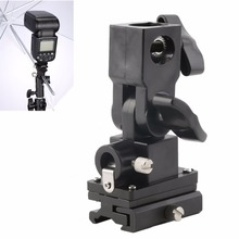 все цены на Universal Type B Hot Shoe Flash Umbrella Holder Swivel Light Stand Bracket For Camera онлайн