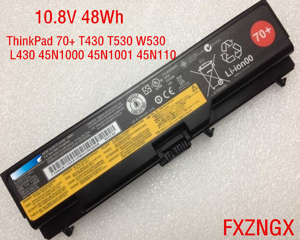 10.8V 48Wh Genuine <font><b>Battery</b></font> for <font><b>Lenovo</b></font> ThinkPad 70+ T430 T530 W530 <font><b>L430</b></font> 45N1000 45N1001 45N1107 image
