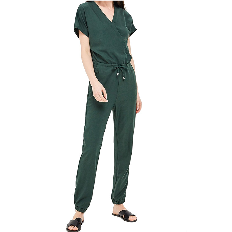 Jumpsuits, Playsuits & Bodysuits MODIS M181W00787 women cotton pants clothes apparel for female TmallFS green backless design v neck halter playsuits