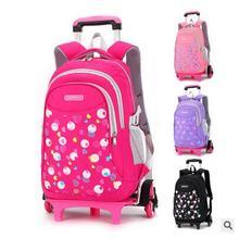 kids school rolling backpack bags on wheels kids trolley bag for school children travel luggage bags school wheeled backpack
