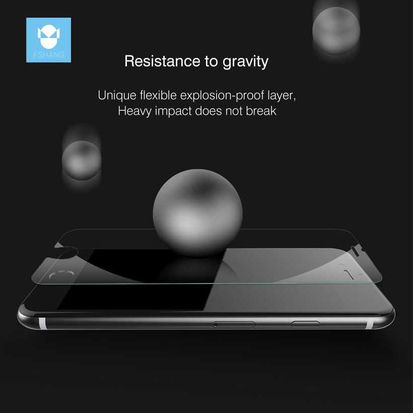 FSHANG Nano Coated Screen Protector Film For iPhone 8 7 6 6s Tempered Glass Protective For iphone 6 8 S 7 Plus Premium Toughened