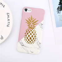 lovebay телефона чехол для iPhone в 8 7 6 6 с плюс мода мультфильм лист ананаса красочные геометрия твердый переплет чехол для для iPhone 8