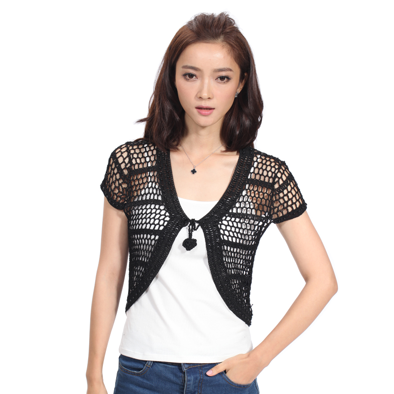 2016 New Arrival Summer Style Women Short Sleeve Cardigan Wool ...