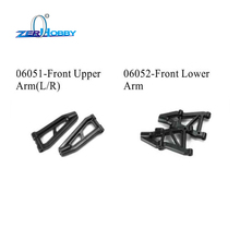 купить RC CAR SPARE PARTS FRONT/REAR LOWER ARM FOR HSP 1/10 ON ROAD CAR 94177 (part no. 06502, 06503) онлайн