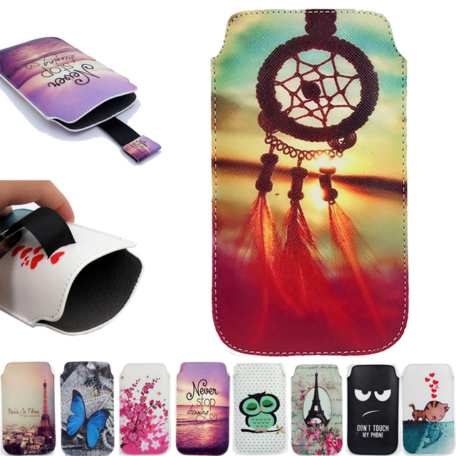 Luxury Cartoon Painting Cases For BLU Studio M HD S110L Portable Pull Tab PU Leather Pouch Bag Case Cover