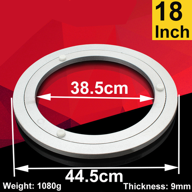 18 Inch Aluminum Lazy Susan Swivel Plate Round Turntable Bearings Furniture  Hardware