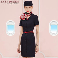 Stewardess costume uniform Stewardess airline flight hotel work wear uniform spa uniform waitress outfits costume AA2941 Y