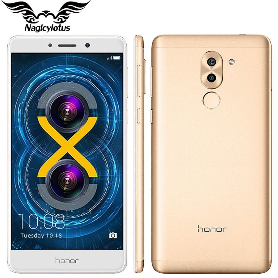 bilder für Ursprünglicher Huawei Honor 6X4G LTE Hisilicon Kirin 655 Octa-core Dual Rückfahrkamera 5,5 ''4 GB RAM 32 GB ROM 1920 * 1080pix Handy