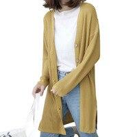 Fashion Wool Cotton Sweater Female Long Thin Cardigan Coat Slim Winter Long Sweaters Woman Clothing Lady