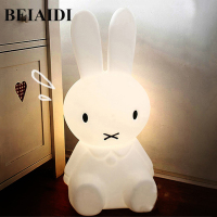 BEIAIDI 50CM BIG Rabbit Cute Night Light Dimmable Rabbit Cartoon Night Sleeping Light Baby Kids Bedroom