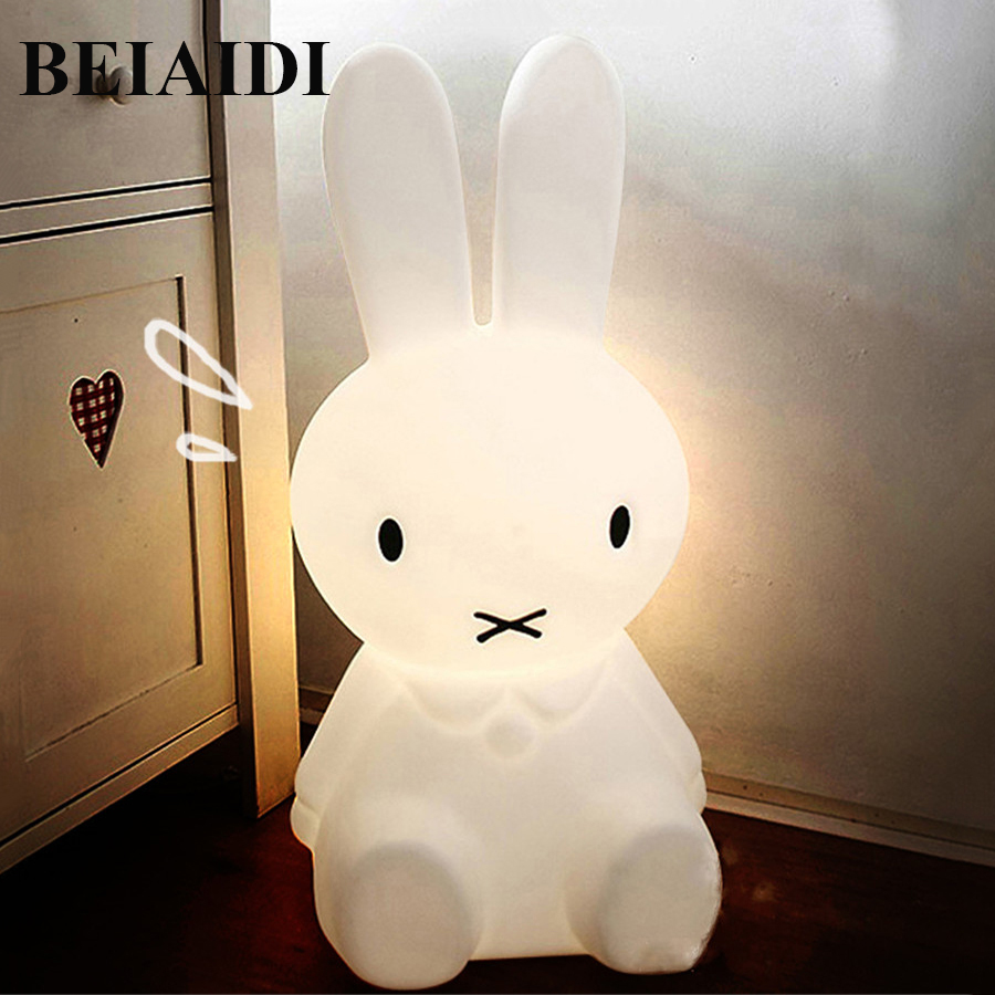BEIAIDI 50CM BIG Rabbit Cute Night Light Dimmable Rabbit Cartoon Night Sleeping Light Baby Kids Bedroom Bedside Desk Table Lamps цена 2017
