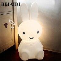 BEIAIDI 50CM BIG Rabbit Cute Night Light Dimmable Rabbit Cartoon Night Sleeping Light Baby Kids Bedroom