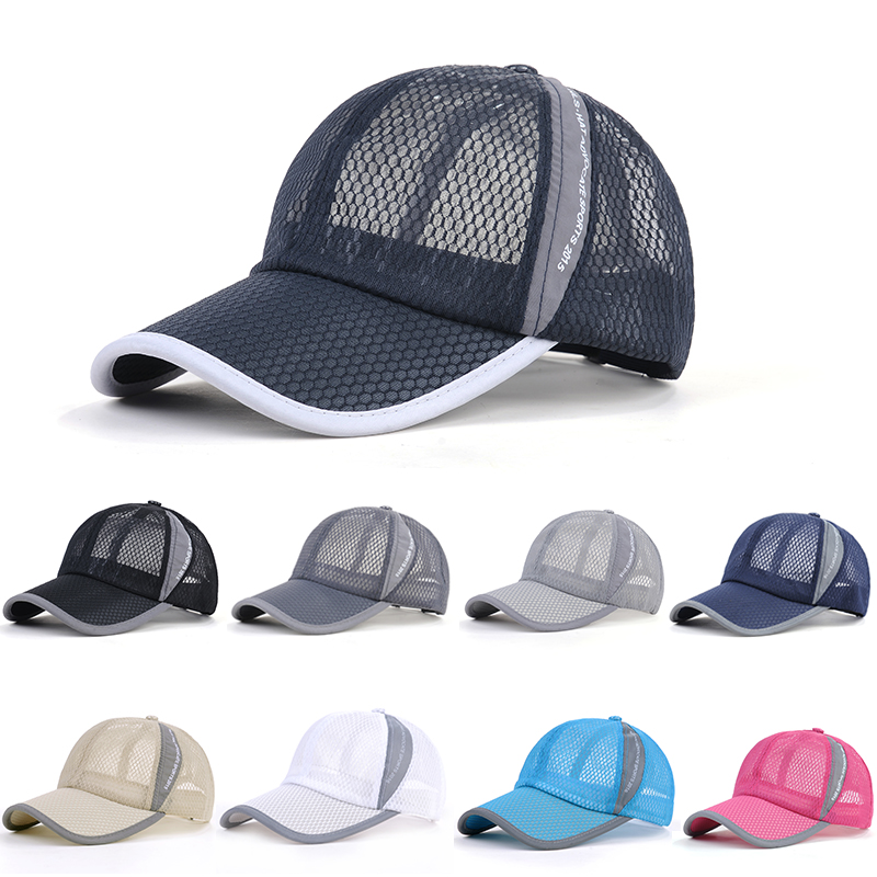 Summer Mesh Sunhats Unisex Men Women cool Breathable Mesh   Baseball     Cap   Fashion Quick Dry Exercise Casual Hats bone