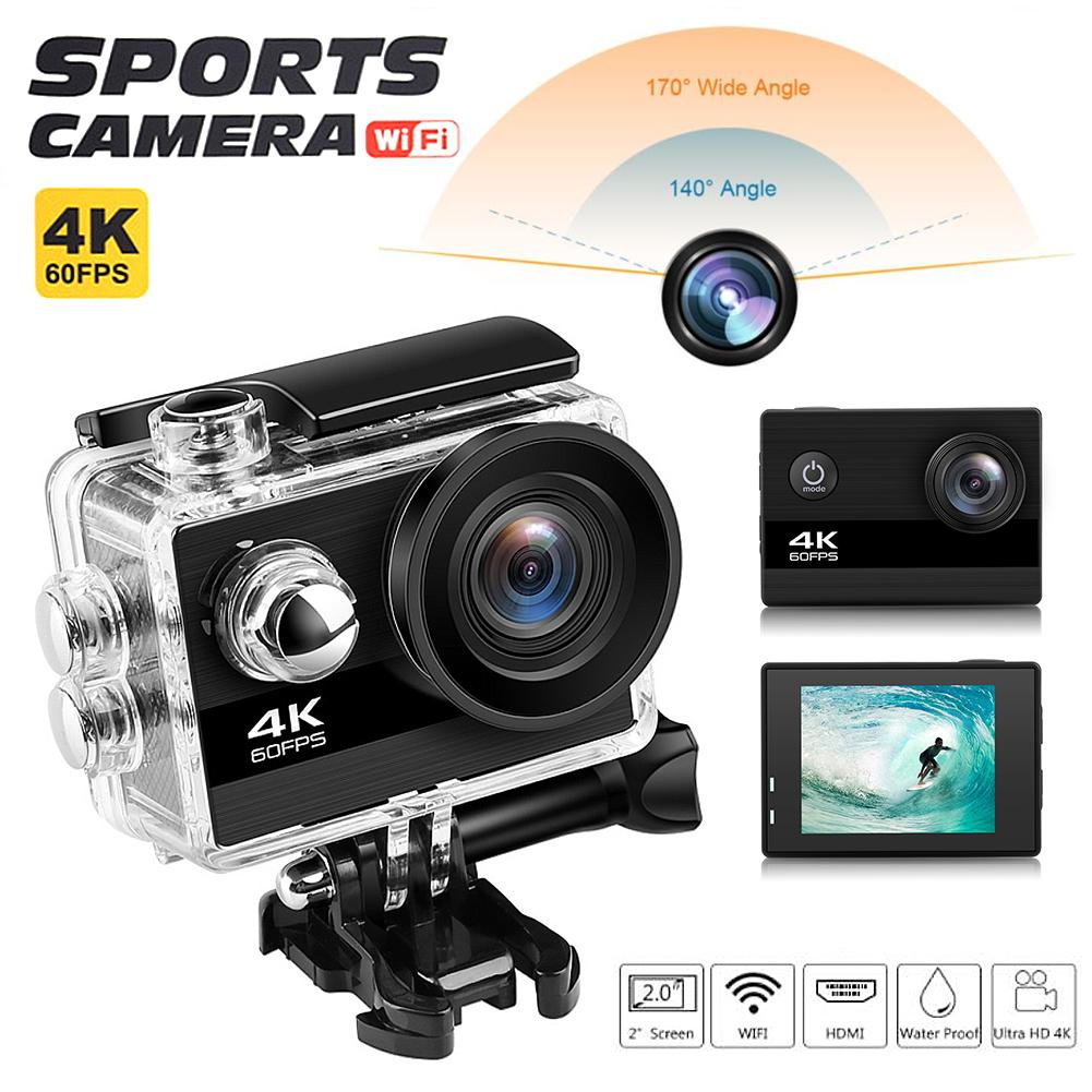 "Camera Ultra HD 4K / 25fps WiFi 2.0"" 170D Underwater Waterproof Helmet Video Recording Cameras Sport Camera(China)"