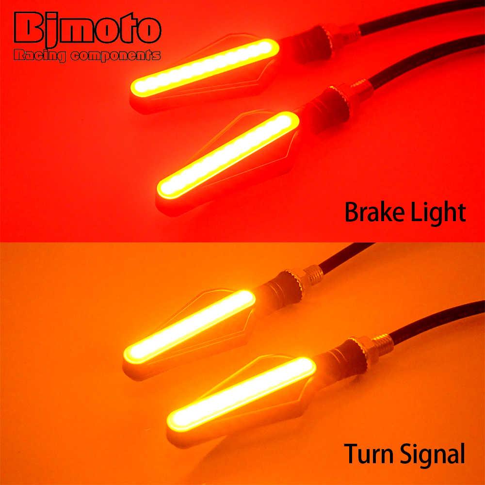 BJMOTO светодиодный сигнал поворота для мотоцикла индикатор мигалка задний свет 1,5 Вт 4 шт. Универсальный последовательный поток воды задние тормозные фонари