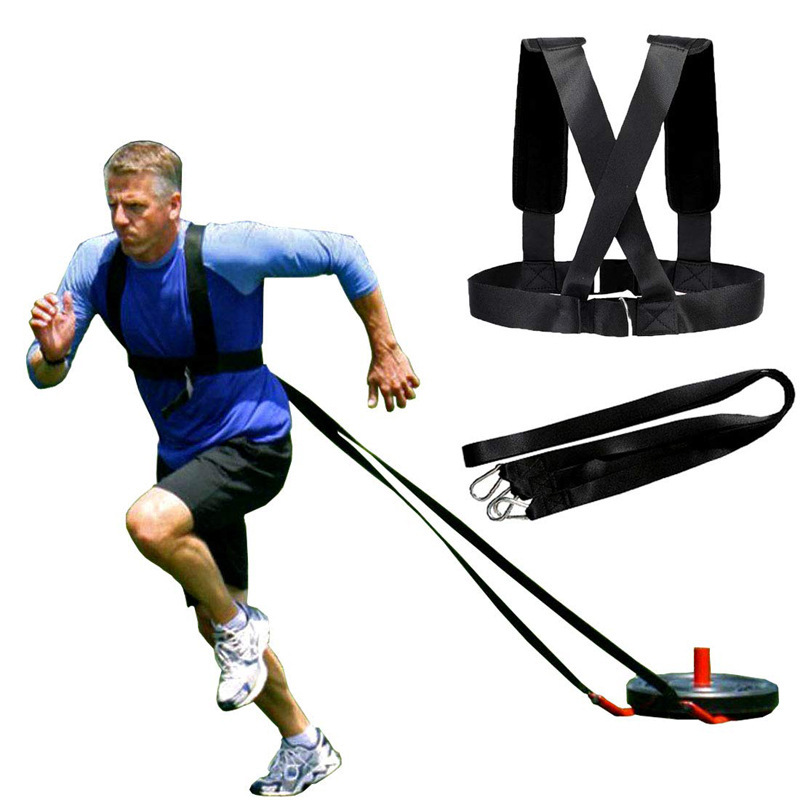 Resistance Bands Weight Bearing Shoulder Strap for Speed Training Running Exercise Workout Expander Fitness Band