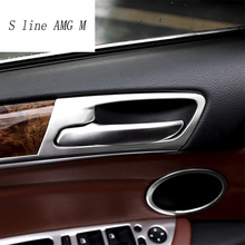 Стайлинга автомобилей интерьера дверные ручки крышки Накладка дверь чаша Стикеры украшения для BMW X5 X6 F15 F16 E70 E71 авто аксессуары для интерьера