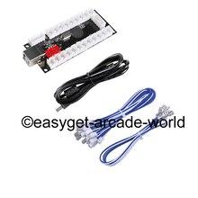 Reyann Ritardo Zero Encoder USB PC a HAPP Joystick In Stile & Push Bottoni per MAME, raspberry Pi RetroPie Progetti FAI DA TE & 4.8mm Formato