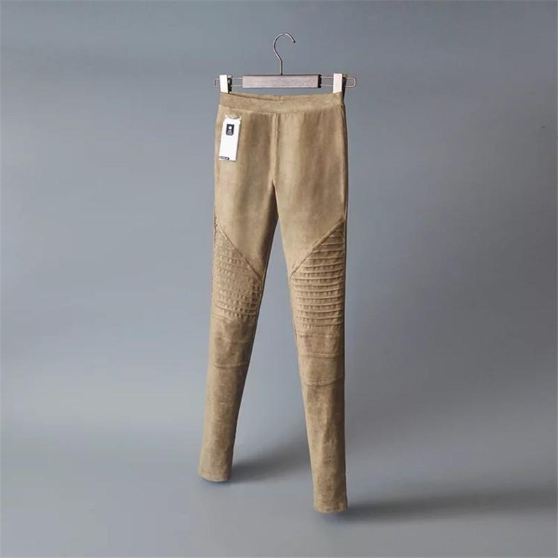 Slim Suede Jeans 10