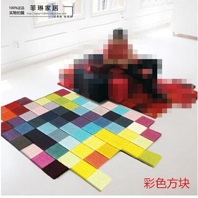 Современные ковры ручной работы для гостиной, спальни, модный креативный журнальный столик, диван, инопланетянин, индивидуальность, тренд, ковер на заказ - Цвет: F