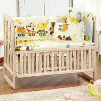 OUTAD Cute 100 58cm 110 60cm 5pcs Set Promotion Cotton Baby Children Bedding Set Comfortable Crib