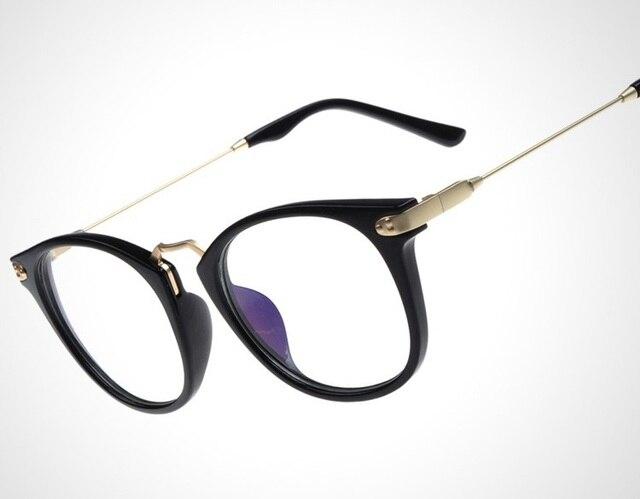 39ffb1476d Flat mirror online sale modern Brown floral frame glasses Retro reading  spectacles frame 753 metal GLASS big frame designer