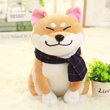 big plush yellow Akita dog toy lovely fat sitting Akita dog doll gift about 45cm