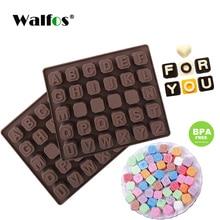 WALFOS 26 Englisch Buchstaben 4 Whiteboard Schokolade Silikon Form Süßigkeiten Ice Cube Mold Gebäck Seife Form Fondant Kuchen DIY Backen werkzeug