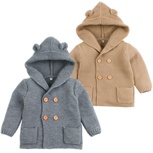 Winter Sweaters For Baby Girls Cardigans Autumn Hooded Newborn Boys Knitted