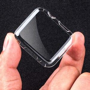 Image 1 - 100 adet Şeffaf Tam Koruma Series3 Kılıfları Temizle Kristal Silikon Kapak Apple için İzle Serisi 3 2 Kılıfı fundas Coque 42mm