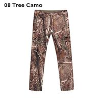 High Quality Shark Leather Men Camo Pants Waterproof Tad Softshell Outdoor Hiking Pants Men Camping Pants