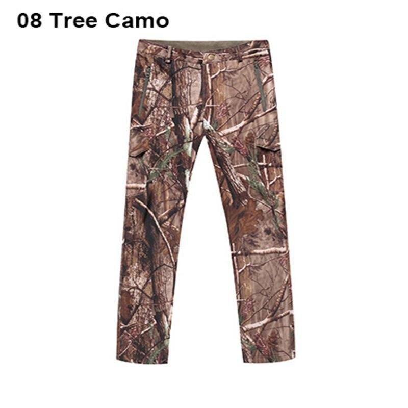 High Quality Shark Leather Men Camo Pants Waterproof Tad Softshell Outdoor Hiking Pants Men Camping Pants 11 Colors drawstring spliced camo jogger pants