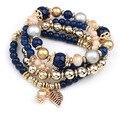 2016 moda Bohemia Multilayer pulseira para mulheres charme Strand pulseiras 5B195