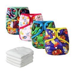 4pcs baby cloth diaper cover leakproof reusable pocket diapers newborn waterproof cloth nappies with 4pcs microfiber.jpg 250x250