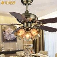 Винтаж Европа здоровый 42 дюйм(ов) вентилятор потолочный светильник для гостиной местный номер AC 80 265 В 1078