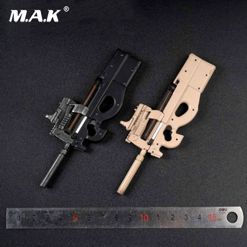 1/6 AS029B Sand Color P90 Submachine Gun Weapon Toys Figure Accessories inflatable sand tray plastic mobile table for children kids indoor playing sand clay color mud toys accessories multi function