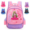 Cute Princess Girls School Bags Boys Spiderman School Portfolio Polyester + PU Waterproof Orthopedic Backpacks Mochila Escolar